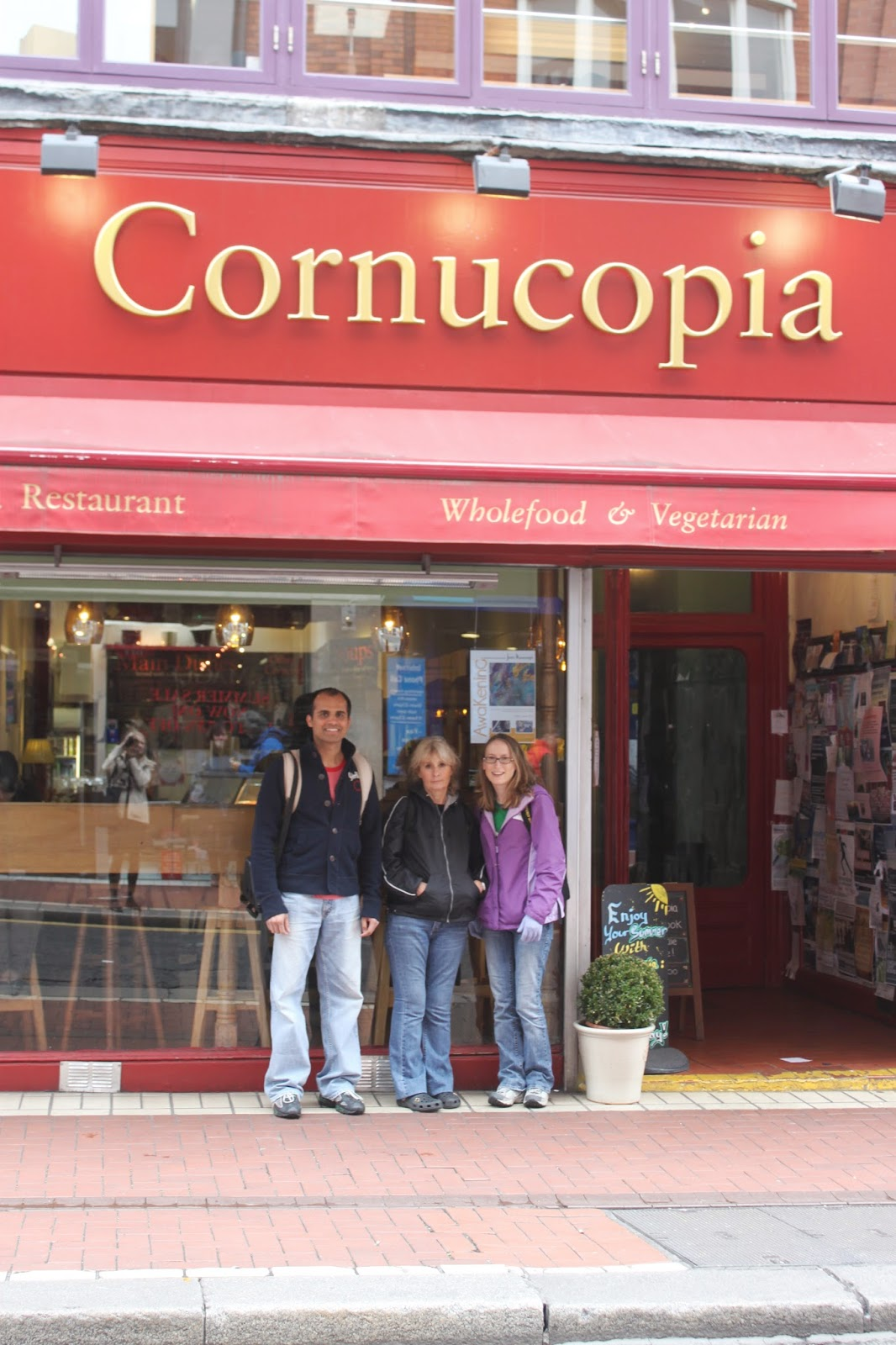 Cornucopia Whole and Vegetarian Vegan Restaurant Dublin, Ireland