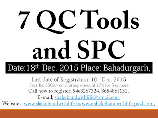 7QC Tools and SPC Training Seminar; 18th Dec.2015