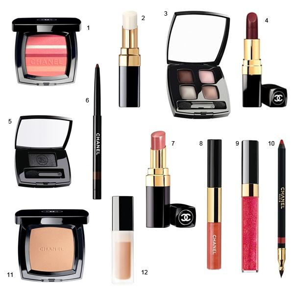 Produtos em lançamento Chanel primavera/2012