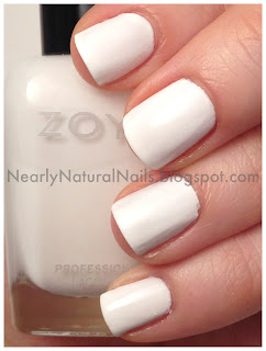 Zoya Snow White nail polish swatch, 2 coats