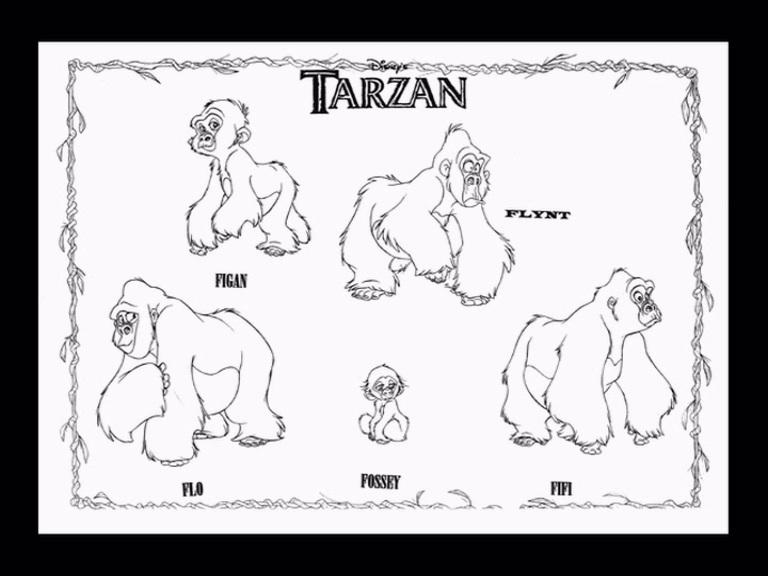 Refart at calarts tarzan gorilla model sheets - Tarzan gorille ...