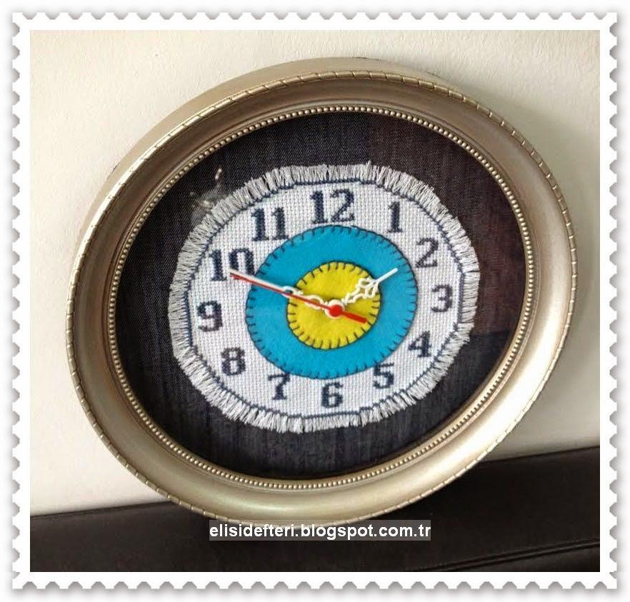 etamin işlemeli saat