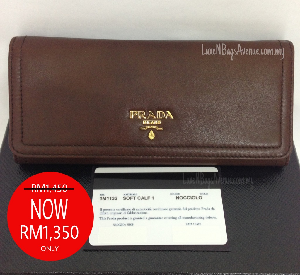 prada soft calf leather wallet