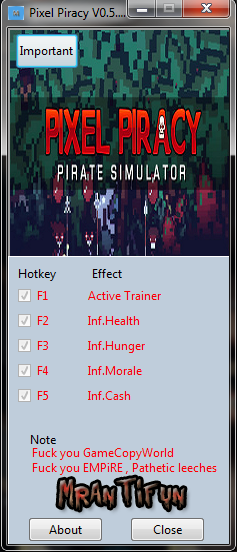 Pixel Piracy V0.5.0.2 Trainer +4 MrAntiFun