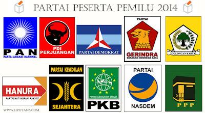 Daftar Partai Politik Peserta Pemilu 2014