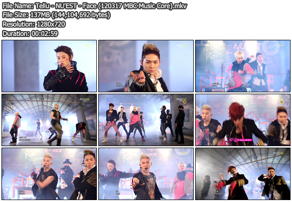 [Perf] NUEST   Face @ MBC Music Core 120317