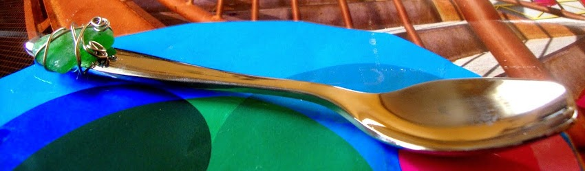 limited edition spoon with beach glass ...