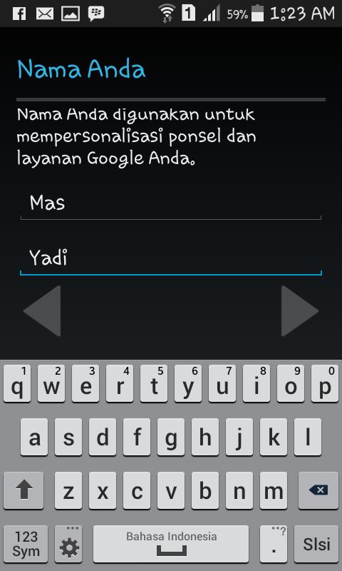Nama Membuat Nama Gmail di Android