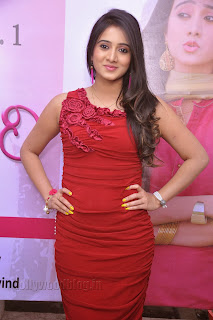 Harshika Pooncha latest Pictures in red 001.jpg