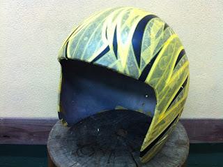 457928973 - カスタムペイント工程  ジェットヘルメット スカル クリアースピニング