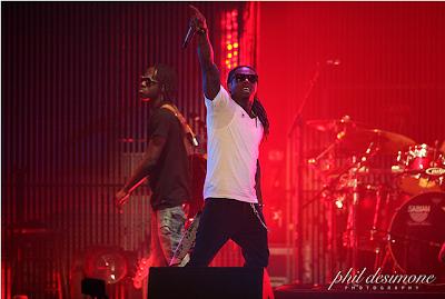 Foto de Lil Wayne en un concierto de la gira I Am Music Tour II