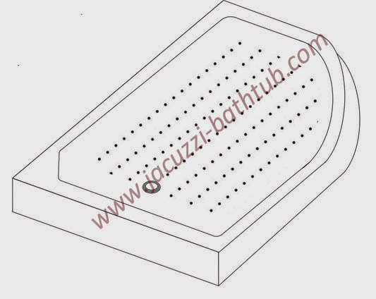Shower Trays with Anti Slipping Textures (STS-8512OD) - teetotal - jacuzzi-bathtub.com