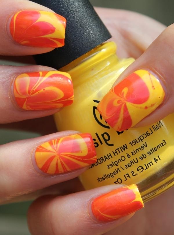 Долька апельсина маникюр