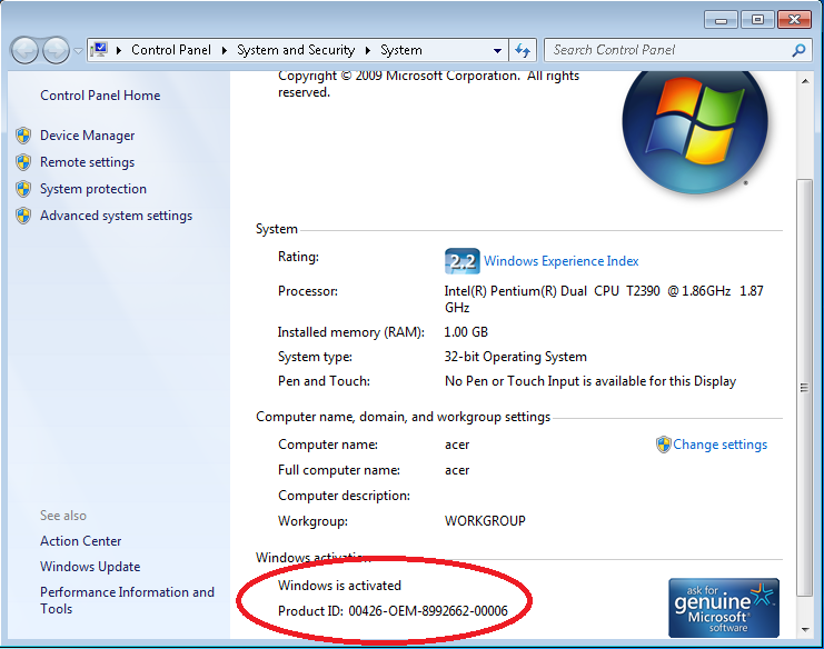 Anita edukasi serial number serial key activasi windows 7 for Window number