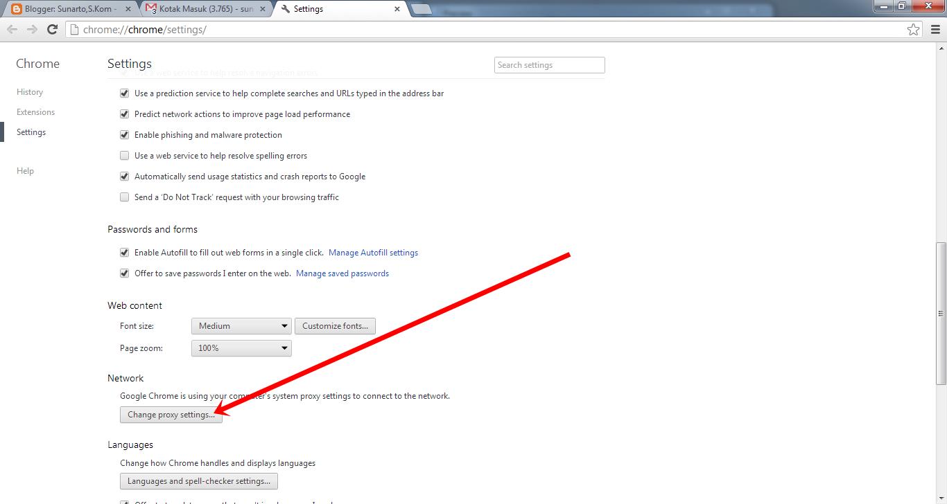 Merubah Proxy Pada Chrome Sunarto S Kom