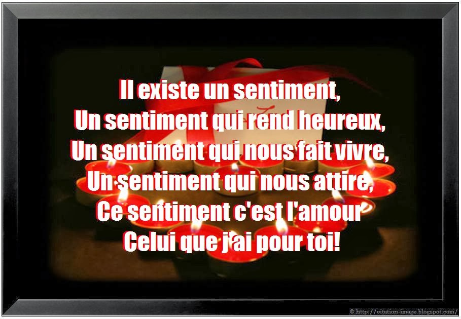 Citation d'amour fort en image