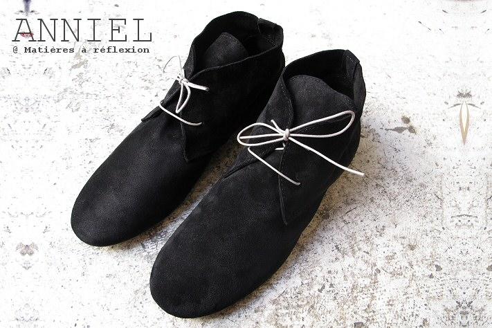 Desert boots homme Anniel en daim noir