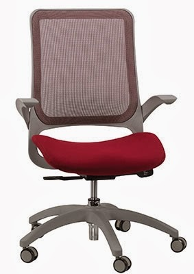 Burgundy Mesh Ergonomic Chair by Eurotech