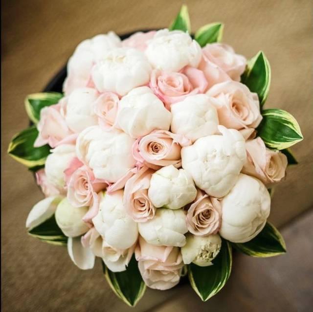 bouquet sposa peonie e rose