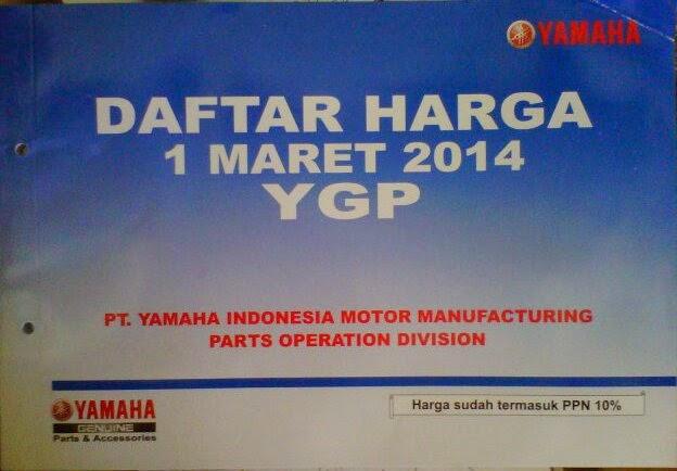 Daftar harga Yamaha Genuine parts terbaru 2014