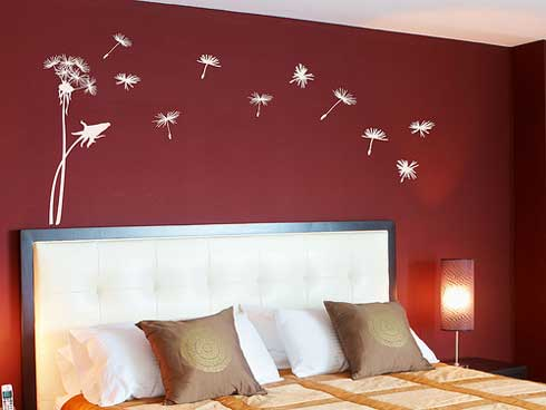 Wall decor paint home design inspirations Red bedroom wall painting ideas