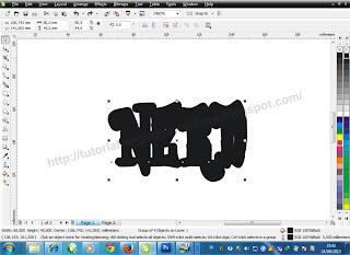 Cara Membuat Outline pada Objek/Teks (2),  tutoriallengkapcoreldraw.blogspot.com