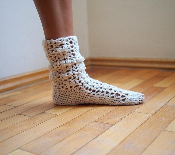 t%C4%B1%C4%9F+i%C5%9Fi+%C3%A7orap+modeli+(2) Tığ İşi Çorap Örneği