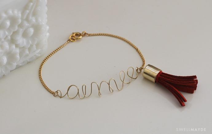 DIY Wire Charm Bracelet