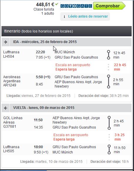 Buenos Aires barato desde Alemania