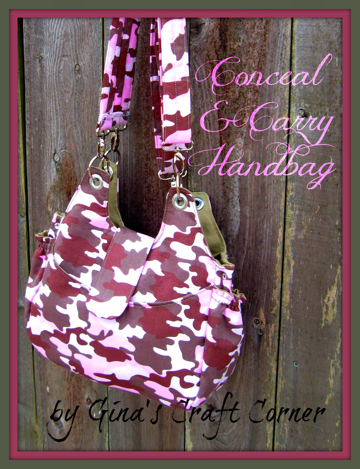 Conceal and Carry Handbag by Gina's Craft Corner