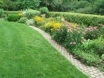 Rosetta McClain Gardens English perennial border  by garden muses: a Toronto gardening blog