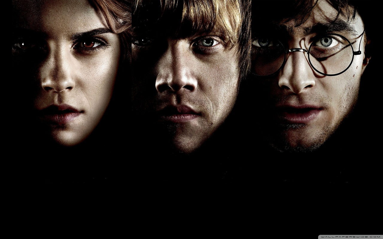 Hermione Ron and Harry Potter Wallpaper