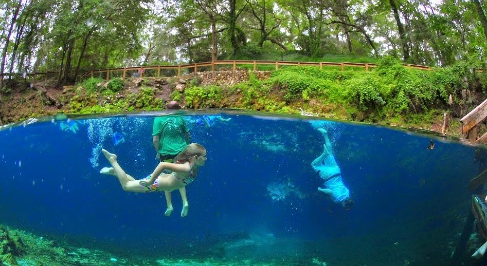 Parque Blue Spring na Flórida
