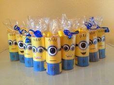 lembrancinhas para festas feitas de rolo de papel higiênico  minions