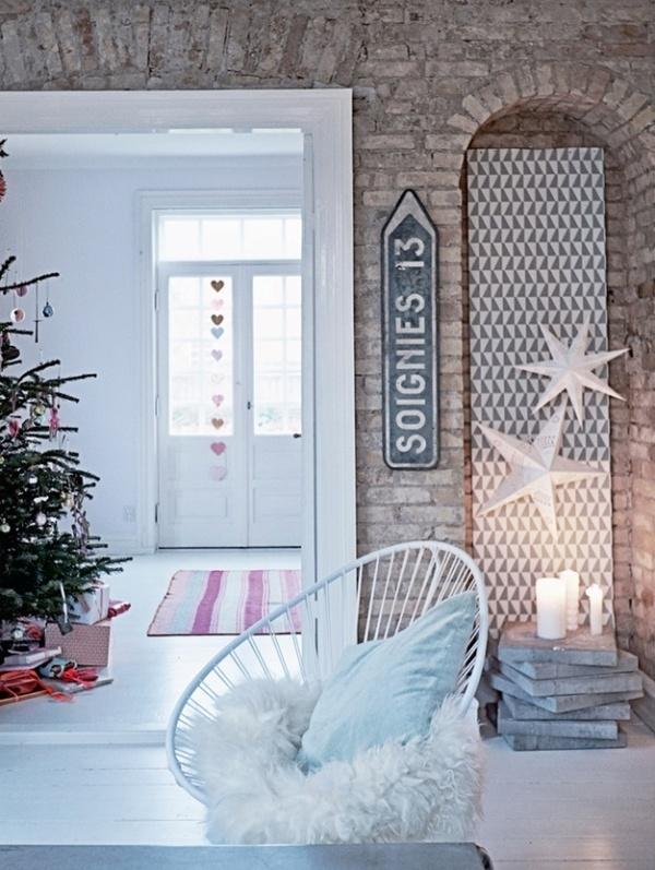 Speciale natale faidate toni pastello stile nordico e - Decorazioni natalizie stile shabby chic ...