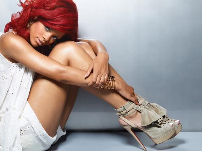 rihanna red hair pictures