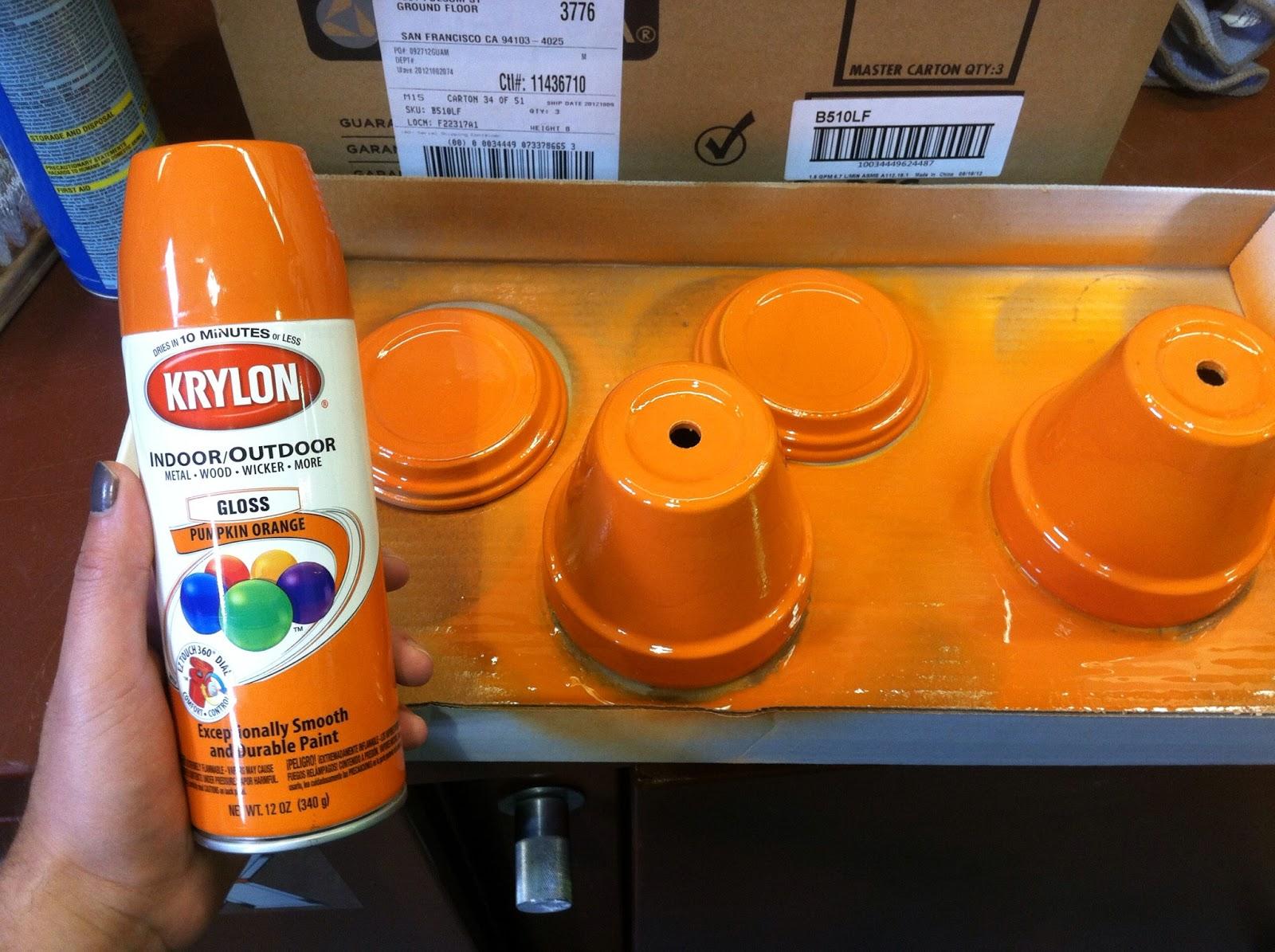 Pumpkin Orange Paint one wall at a time: pinterest challenge #8: pumpkin candy jars