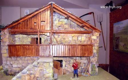 Maqueta de una cabaña pasiega de Cantabria