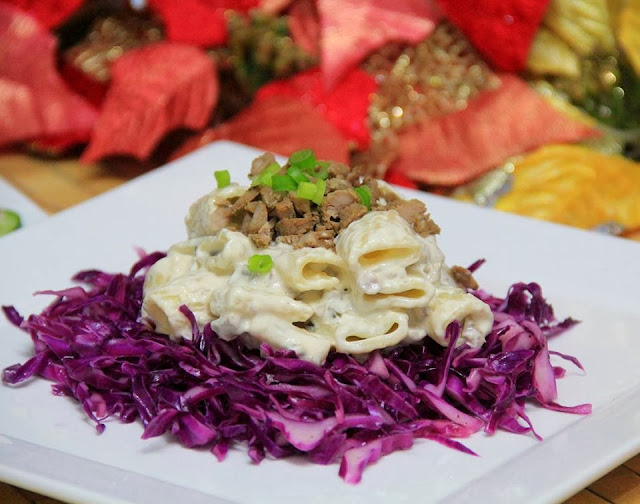 Creamy Adobo-Rigatoni Macaroni in Red Cabbage Recipe