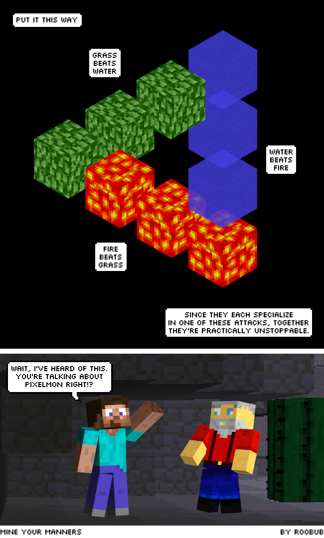 Minecraft Webcomic. Mine Your Manners. Pokemon.
