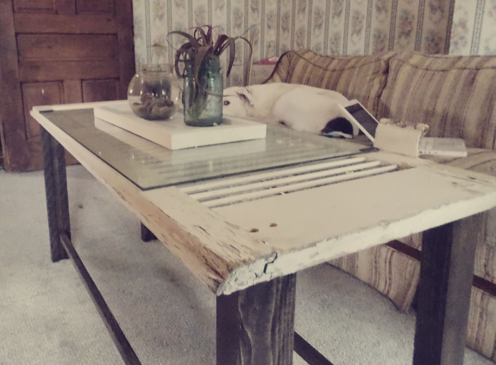My Little Project 120 Year Old Shutter Into A Coffee Table