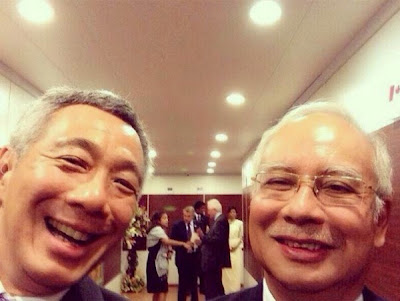Prime Minister of Singapore Lee Hsien Loong and Malaysian Prime Minster Najib Razak