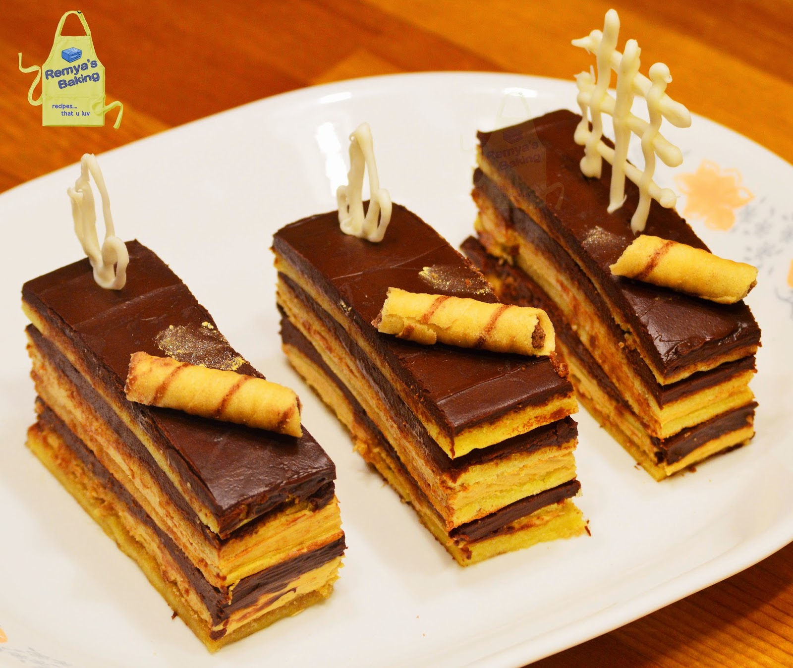 Gateaux Opera Opera cake Gteau Lopra for my Bday boy