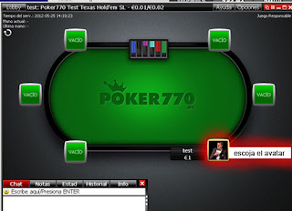 Partida online en la mejor sala de poker