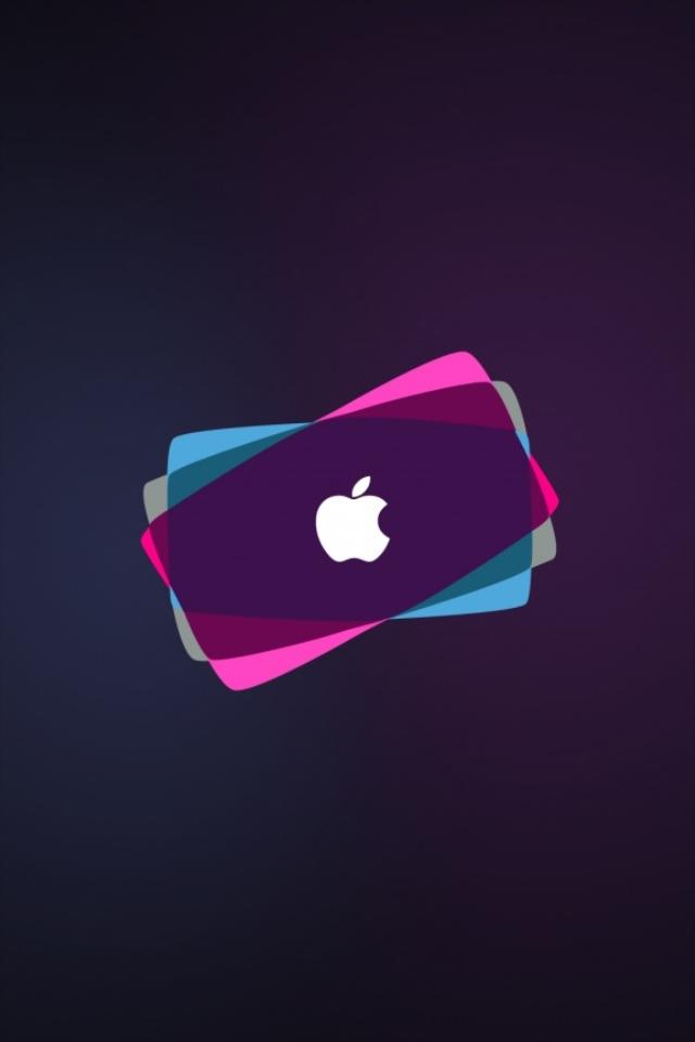 Iphone+4s+Colorful+Logo En Güzel İphone 4s Resimleri