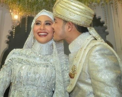 perkahwinan fouziah gous dan zhafran yusof pelakon cantik fouziah gous
