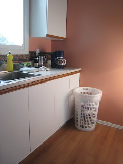 Kitchen Before Rubbermaid Recycler