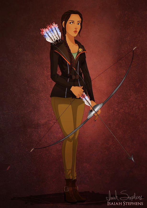 Pocahontas como Katniss Everdeen