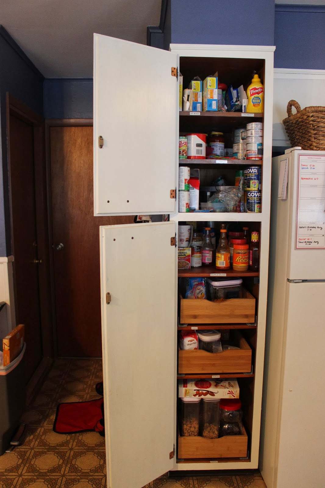 Organizing For Six Our Refrigerator Amp Pantry Clean