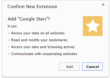 Google Star Extension for Google Chrome